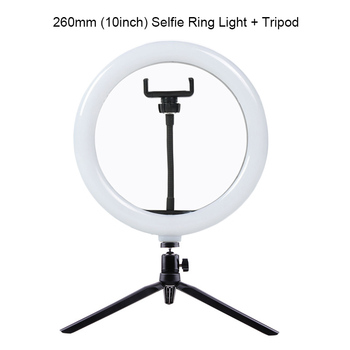 Selfie Ring Light Photography light led rim of lamp with mobile Holder large tripod stand for tik Youtube tiktok tok ringlight 13