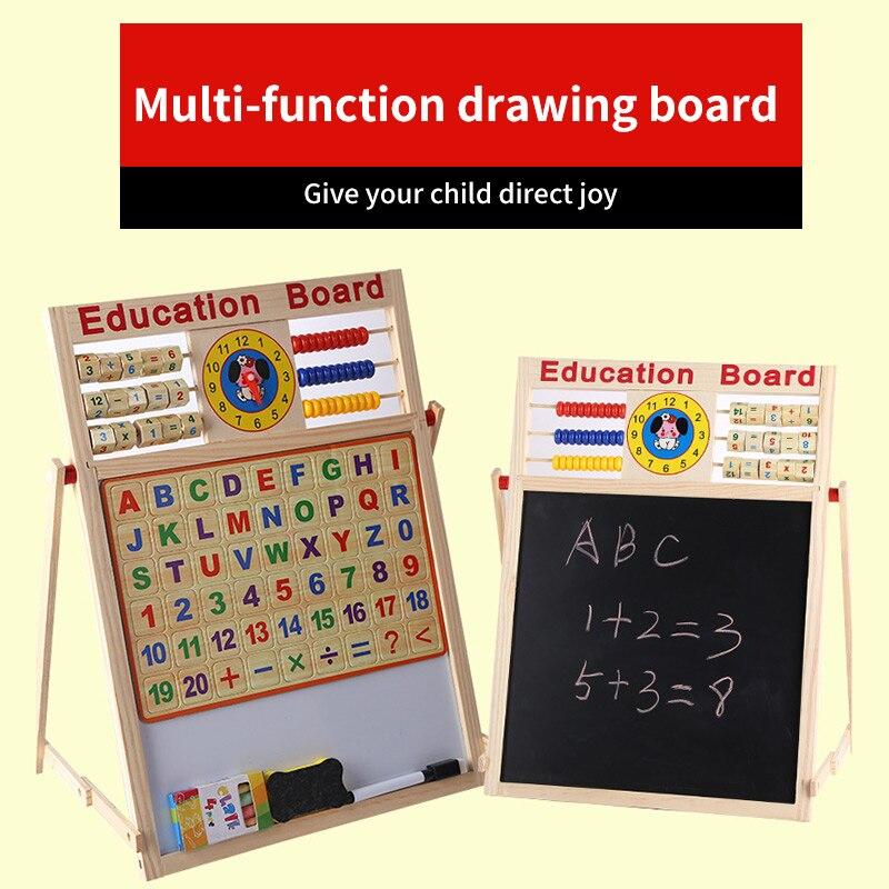 2 в 1 Детская школьная доска профессиональные магнитные Обучающие игрушки прочная Двухсторонняя доска для рисования детские развивающие иг...