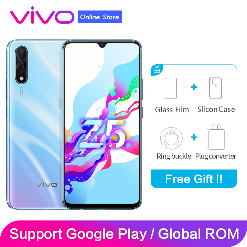 vivo Z5 Support Global ROM Google Paly 6G 128G Moblie Smart Phone 48MP+32MP 4 Cameras Face+Fingerprint ID 1080*2340 Full Screen
