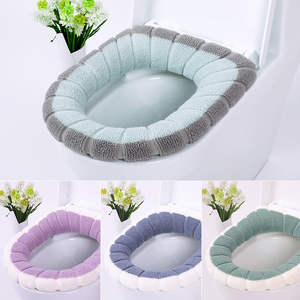 Mat-Set Cover-Accessories Closestool-Mat Seat-Case Toilet-Lid Home-Decor Washable Universal