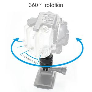 Image 2 - Sports Camera Accessories 360 Degree Rotating Joint Connector Bracket Tripod Mount Adapter for Gopro All Sjcam yi Action Cameras