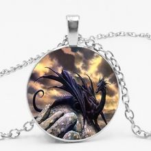 LETS SLIM Western Dragon Region Black Pendant Necklace Jewelry Send A Friends Gift Photo Private Order