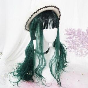 Image 2 - DIOCOS Boku hiçbir My Hero Academia Shoto Todoroki Izuku Midoriya Cosplay Peruk Kadınlar Uzun Lolita Peruk