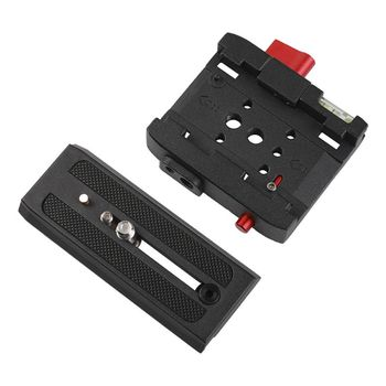 Aluminum Alloy Quick Release Plate Assembly P200 Clamp Adapter for Manfrotto 577 501 500AH 701HDV Q5 Camera Tripod Accessories image