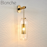 Post modern Glass Wall Lights Gold Wall Lamp Led Sconces for Bedroom Bathroom Mirror Lighting Fixtures Home Kitchen Luminaire