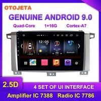 Factory direct sales OTOJETA Android 9.0 Car Multimedia Radio For Toyota LANDCRUISER 100 2005 video tape recorder GPS Navigation