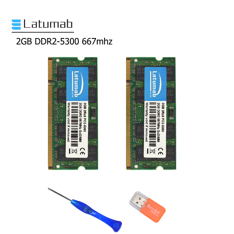 Latumab 2GB 4GB DDR2 667mhz PC2 5300 Laptop Memory SoDimm Memory Ram 200Pins High Quality Notebook Module SODIMM 1.8V RAM