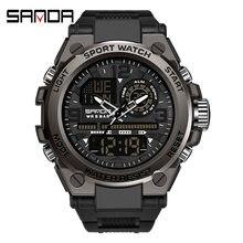 SANDA G Stil Military Sport Uhren Herren 50M Wasserdichte Digitale Armbanduhr Mann Quarz Für Männer Uhr Männlich Relogio Masculino