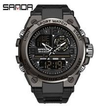 SANDA G Style Military Sports Watches Mens 50M Waterproof Digital Wristwatch Man Quartz