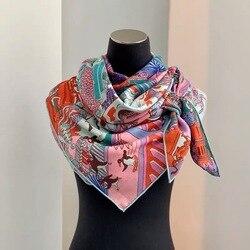 2019 new arrival autumn winter leopard 70% cashmere 30% silk big scarf 135*135 cm warm fashion wrap shawl for women lady girl