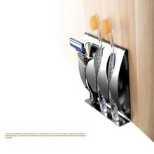 Держатель для бритвы для зубных щеток нержавеющий полированный Органайзер из нержавеющей стали липкий настенный держатель для ванной Душевой полки для зубных щеток