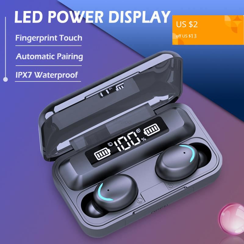 9D hifi стерео бас Bluetooth 5,0 наушники TWS беспроводные наушники Bluetooth гарнитура air mic dots Vs F9 q32 телефон для xiaomi ios|Наушники и гарнитуры|   | АлиЭкспресс