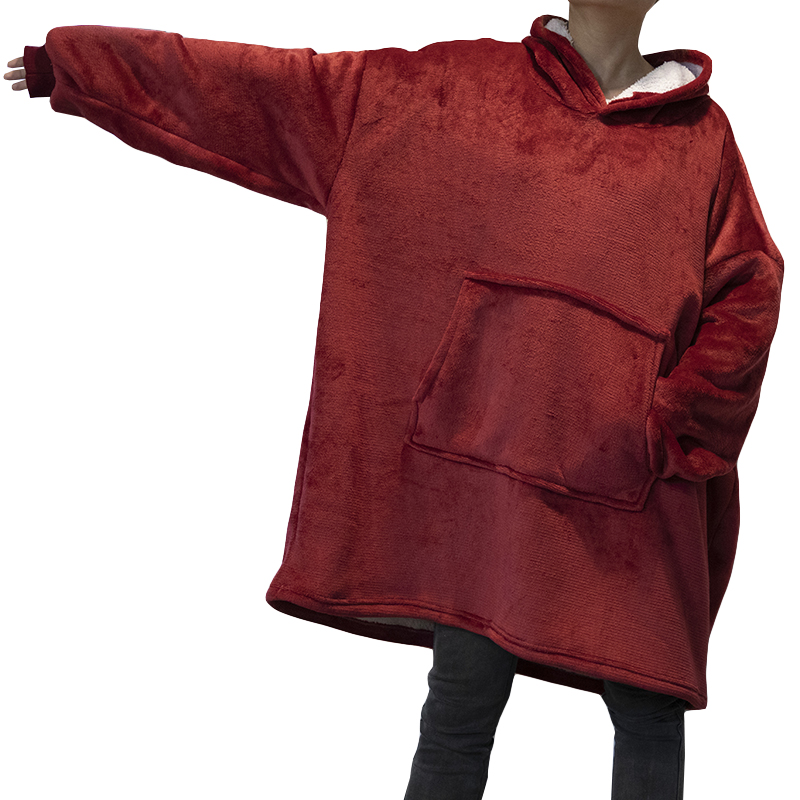 aconchegante velo coral cobertor do hoodie adultos