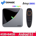 A95X F3 воздуха ТВ Box Android 9 Amlogic S905X3 4 32г 64Г 2,4G/5G Wifi медиаплеер 4K Android ТВ коробка A95XF3 RGB светильник Декодер каналов кабельного телевидения