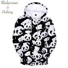 Белая толстовка с капюшоном объемным изображением панды; Толстовки