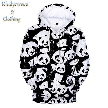 White Hoodie 3d Animal Panda Hoodies Men Women Sweatshirts Hooded Kids Panda Pullovers Boys Girls Tops Hip Hop 3D Print Autumn худи print bar panda pilot
