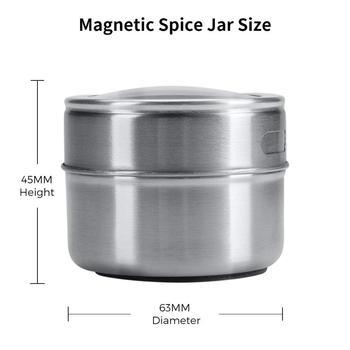 Ensemble de pots à épices magnétiques avec autocollants 1
