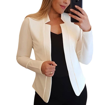 New Women Blazer Thin Long Sleeve Blazer Solid Color Office Lady Suit Coat 2020 Fashion Women Basic Coats Autumn Chaquetas Mujer