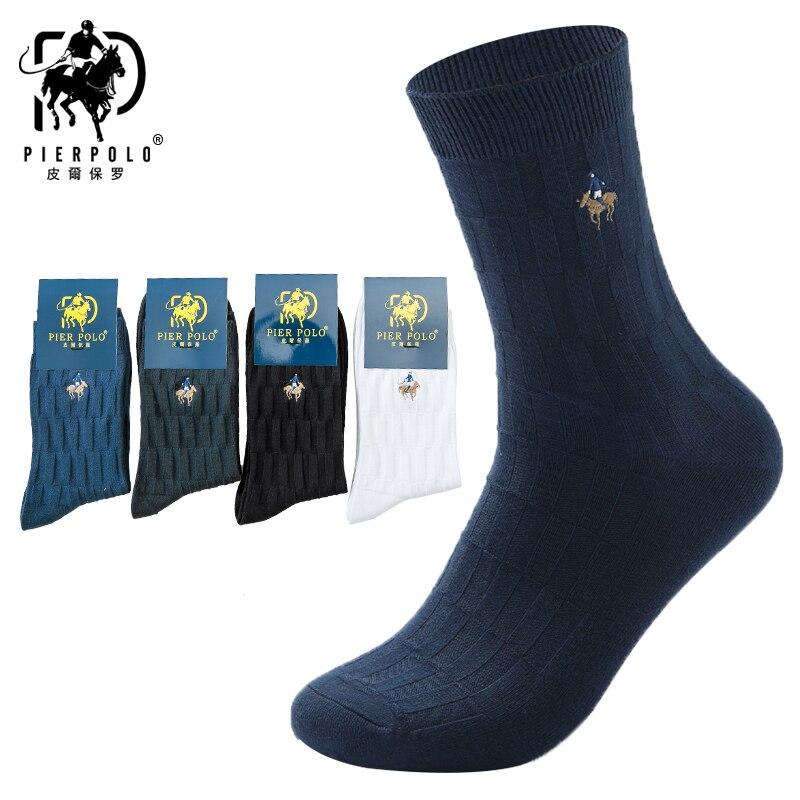 PIER POLO/Новые мужские носки, высококачественные Повседневные носки в деловом стиле, брендовые дышащие мужские носки из чесаного хлопка с