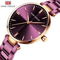 MINI FOCUS Women Watches Luxury Brand 2019 Purple/Blue Ladies Watch Fashion/Dress Wristwatch Waterproof Simple Style Reloj Mujer