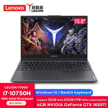 Oryginalny Lenovo Legion Y7000 Laptop do gier Intel Core i7-10750H Windows 10 16GB/32GB RAM 512GB/ 1TB SSD GTX 1650Ti 15.6 Notebook