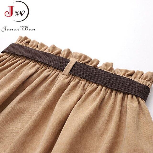 Women Casual Skirts 2021 Spring And Autumn Solid High Waist Irregular Pockets Midi Skirts Fashion Simple Elegant Saia Faldas 6