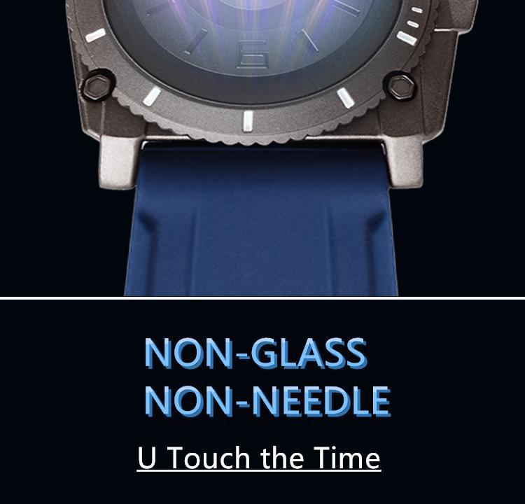Hb5fb4547596e4b81b850459164d07558q Eutour magnetic watch parallel time and space black technology men's couple wristwatch women's wristwatch personality gel wristb