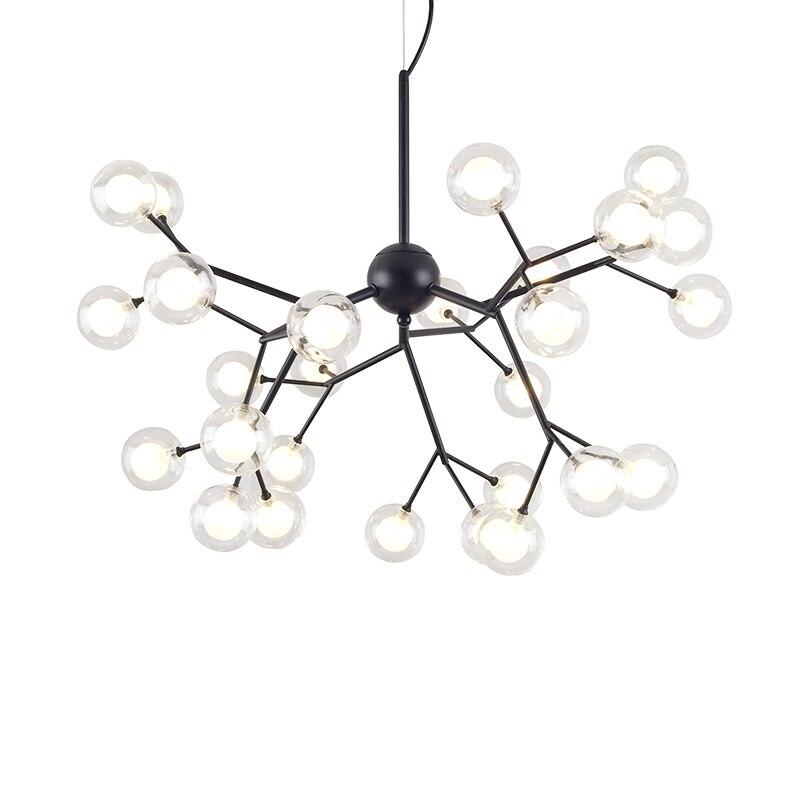 Creative moderne pendentif lumières verre ombre 27 tête Dia.65cm salon salle à manger outil suspendu pendentif G4 lampe à LED remplacer