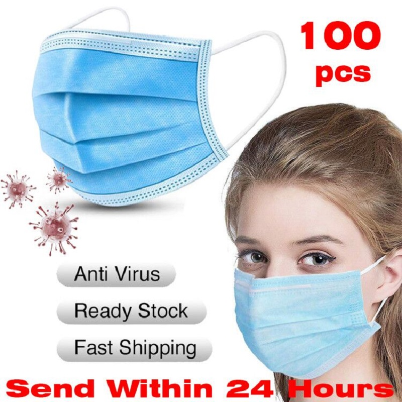 Surgical Medical Disposable Protective Mask 3 Layer Nonwove Ply Filter Mouth Face Mask Anti-Virus Meltblown Earloop Mouth Mas