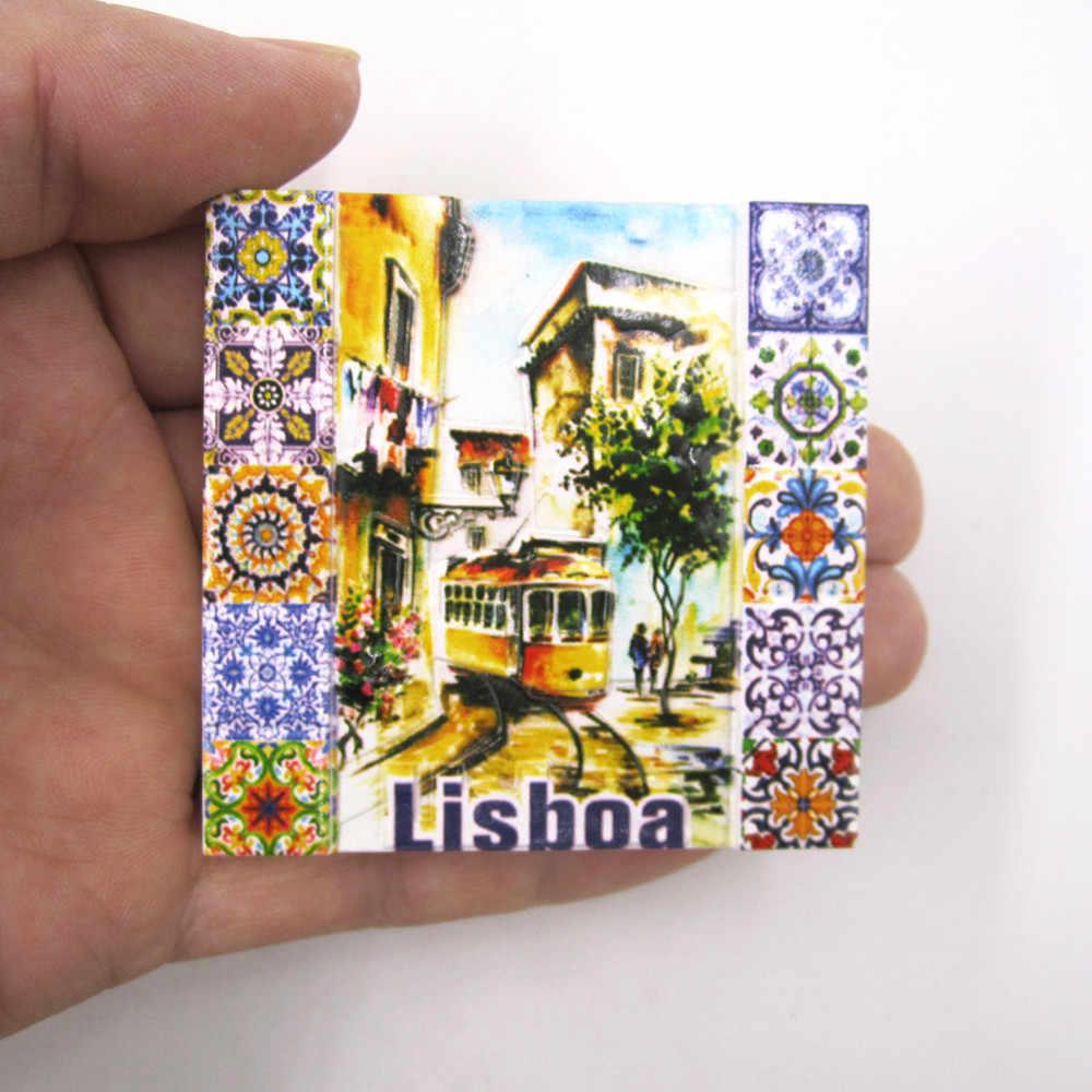 Imán de nevera souvenir imanes pegatinas turismo Souvenirs Navidad Hogar Moderno adorno para la nevera magnética de Portugal