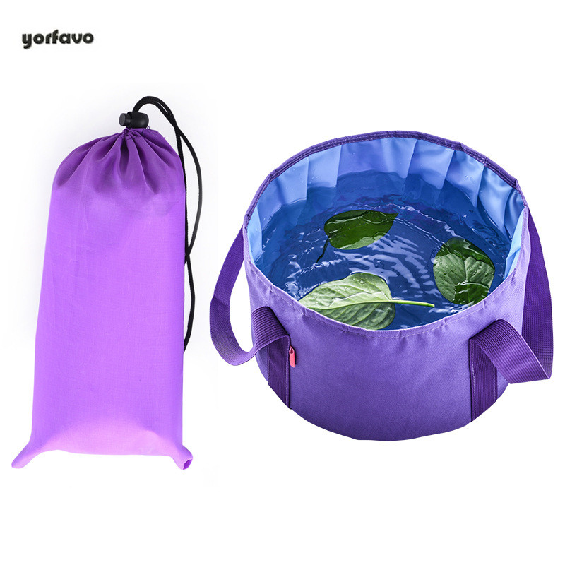 New Waterproof Traveling Business Portable Folding Bag Washing Foot Bag Laundry Folding Bucket Bag Outdoor Folding Basin Handbag