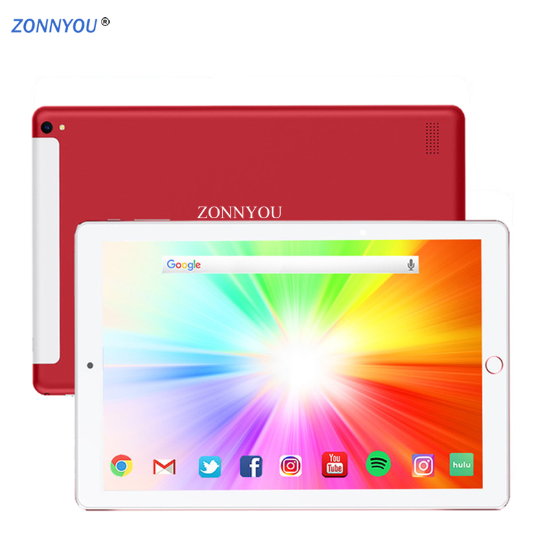 10.1 Inch Tablet 3G/4G Phone Call Octa Core Android 8.0 Bluetooth 6GB/128GB Dual SIM Support GPS Tablet PC