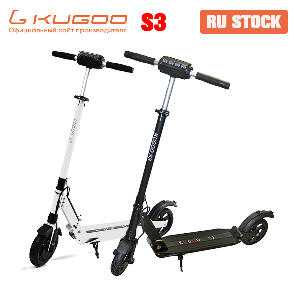 [RU STOCK] KUGOO S3 Folding <font><b>Electric</b></font> Adult <font><b>Scooter</b></font> 8 inch tire <font><b>250W</b></font> Motor e <font><b>Scooter</b></font> <font><b>Electric</b></font> battery skateboard For Xiaomi M365 image