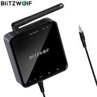 BlitzWolf BW-BR4 V5.0 Senza Fili di bluetooth 2 in 1 Trasmettitore Ricevitore HD Musica Adattatore Audio Aux da 3.5mm per Altoparlante TV MP3