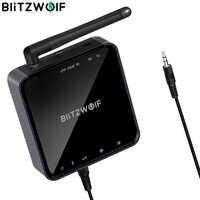 BlitzWolf BW-BR4 V5.0 sans fil bluetooth 2 en 1 récepteur émetteur HD musique Audio adaptateur 3.5mm Aux pour haut-parleur TV MP3