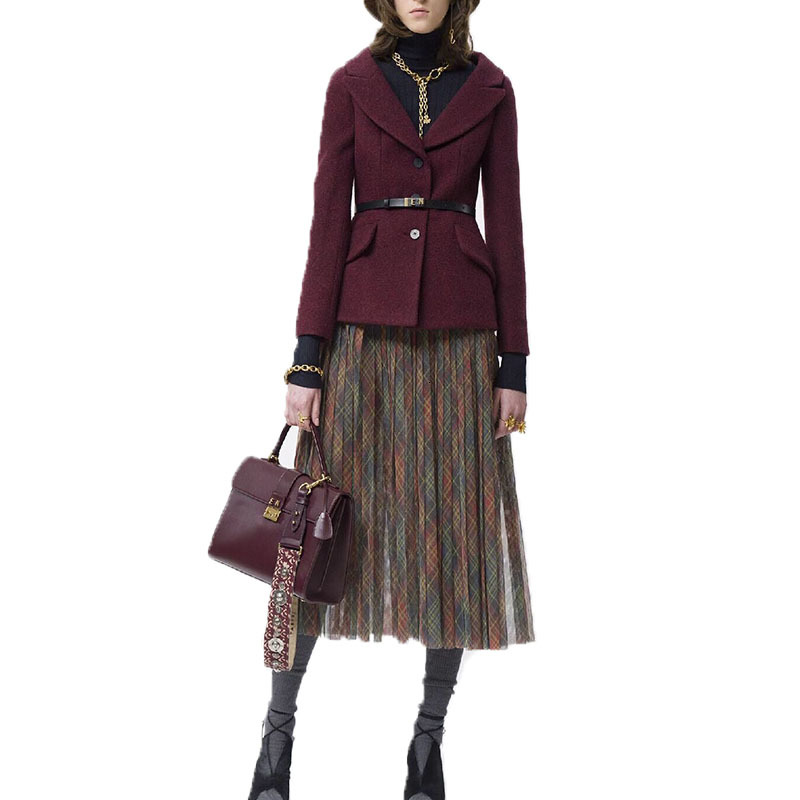 Early Autumn 2019 Personality Suit-dress Fashionable Suit Temperament Western Style Age Skirt Suit Loose Coat Twinset