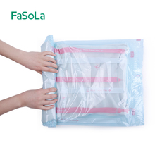 FaSoLa 2 Pieces Hand Rolled Vacuum Bag Organizer Storage Bag Thickened Vacuum Compression Bag Clothes Quilt Suction Storage Bags