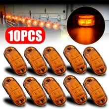 10pcs 10V / 30V Amber 2LED Car Signal Light Oval Clearance Trailer Truck LED Side Marker Lamp Waterproof