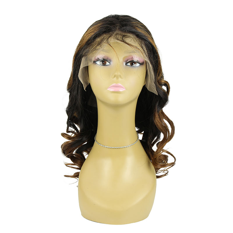 Wholesale  Human Hair Transparent Lace 180% Density Remy Human Hair Lace Front Wig
