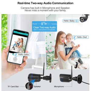 Image 5 - Techage 1080P 2MP Camera Không Dây Tầm Nhìn Ban Đêm Âm Thanh Hai Chiều TF Card Ghi Hình An Ninh Wifi Ngoài Trời camera Quan Sát