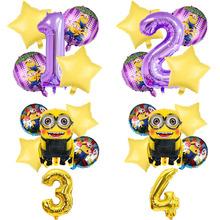 1 zestaw ukraść księżyc miniony dzieci dekoracja urodzinowa balon foliowy hel 32 cali numer balony na brzuszkowe 1 urodziny tanie tanio Disney CN (pochodzenie) Folia aluminiowa Ślub i Zaręczyny Chrzest chrzciny St Świętego patryka Wielkie Wydarzenie