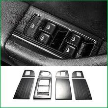 Estilo do carro stainess aço interruptor de elevador da janela painel ajuste capa adesivo guarnição para skoda octavia a7 lhd 2014 2018 peças de automóvel