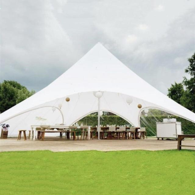 12m Double Peak Star Tent with Digital Printing on the Whole Cover Top for Event Advertisement Exhibition Display and Fair
