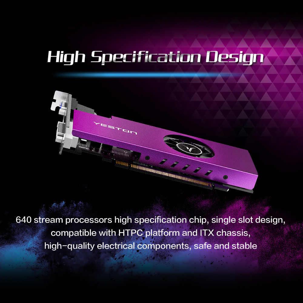 يستون RX 550 RX550 4G D5 بطاقة الرسومات بطاقة الفيديو راديون تشيل الكمبيوتر 4GB ذاكرة GDDR5 128Bit بطاقة جرافيكس 6000MHz VGA HD DVI-D وحدة معالجة الرسومات