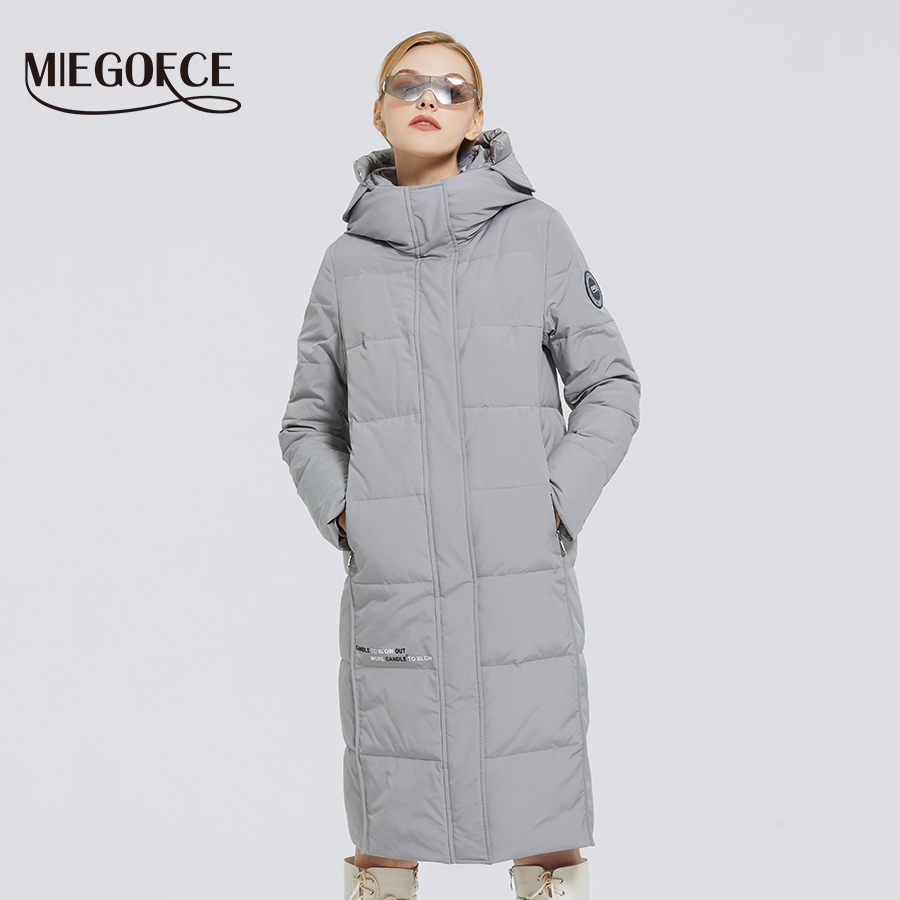 MIEGOFCE 2020 New Women s Long Cotton Coats With miegofce Logo Design Winter Waterproof Parkas Windproof