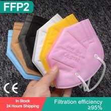 Ffp2mask ce mascarillas ffp2reutilizável colores kn59 máscaras respirador filtro à prova de poeira máscara facial máscara ffpp2 mascarillas fpp2