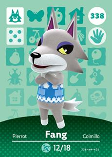 338 Animal Crossing Fang Amiibo Card Fang Crossing Switch Rv Welcome Amiibo Villager New Horizons Amiibo Card Gift Cross Cards 2