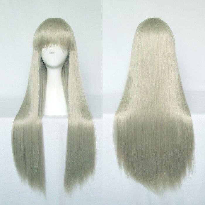 ANOHANA Honma Meiko Cosplay Wigs High-temperature Fiber Synthetic Hair 80cm 31inches Long Straight Hair + Free Hair Cap
