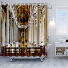 Versailles Art Shower Curtains For Church Polyester Fabric Bathroom Curtain Beautiful