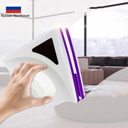 Domu wycieraczka szczotka do czyszczenia szkła dwustronnie szczotka magnetyczna wycieraczek przydatne szczotka powierzchniowa do mycia szyba okienna narzędzie do czyszczenia|Magnetyczne myjki do okien|Dom i ogród -